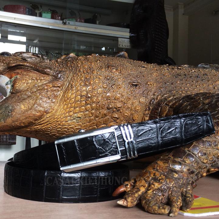 Dây nịt da cá sấu da bụng không nối