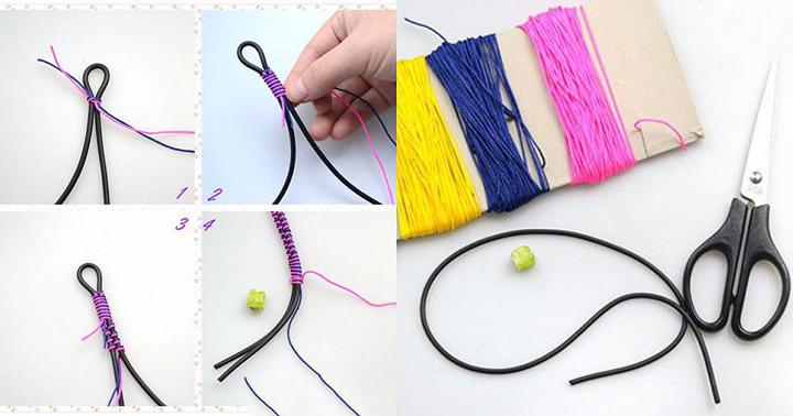 Cách làm vòng đeo tay bằng chỉ đơn giản