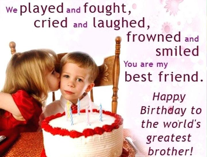 sinh nhật em trai bằng Tiếng Anh