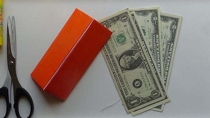 Làm ví tiền bằng giấy kiểu 2 gấp