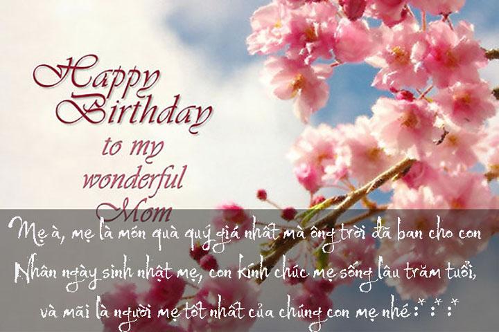 Lời chúc mừng sinh nhật mẹ hay nhất