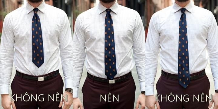 Lưu ý các điểm thắt cà vạt