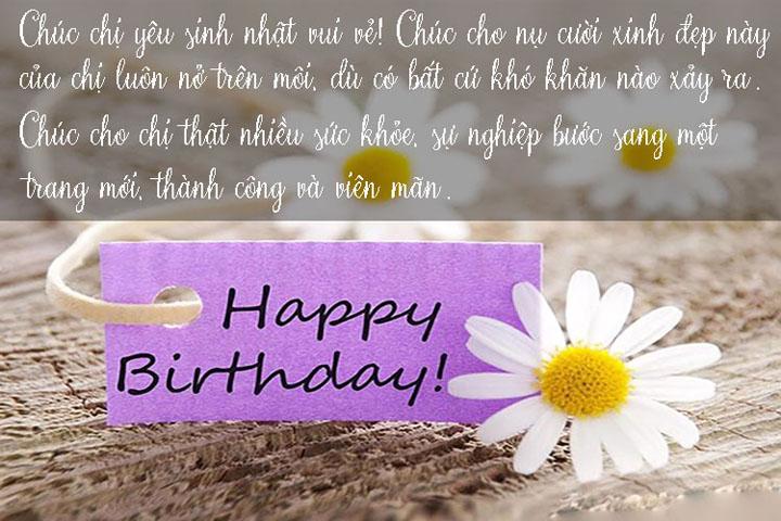 mừng sinh nhật chị gái