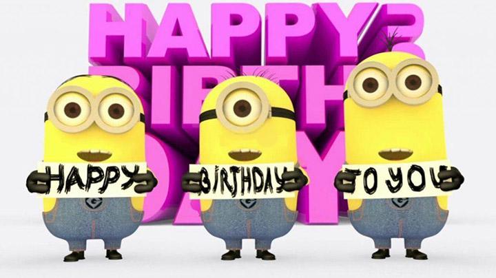 chúc sinh nhật bạn minion