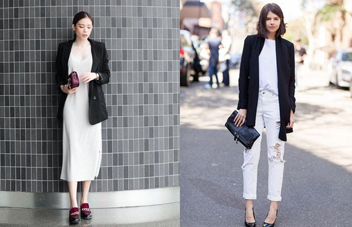 Trang phục màu đen và trắng