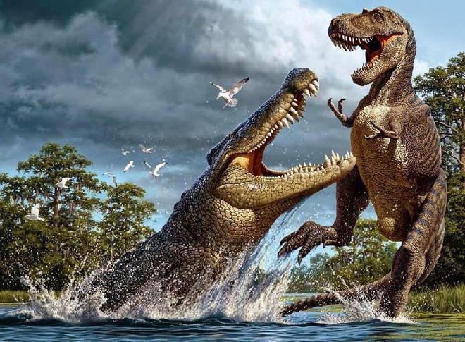 Cá sấu họ hàng với khủng long