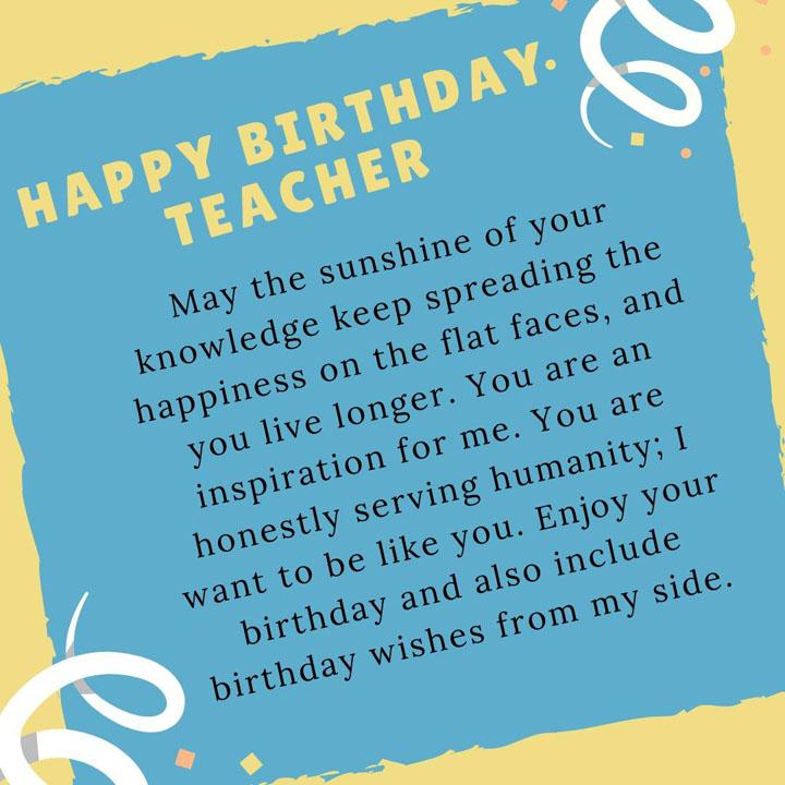lời chúc sinh nhật giáo viên
