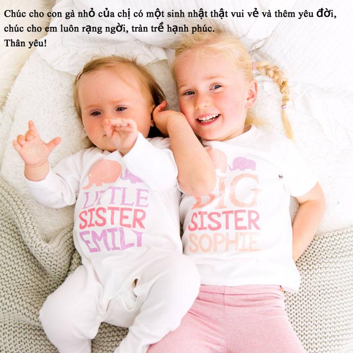 lời chúc dễ thương từ chị gái