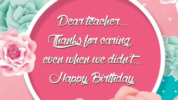 lời chúc sinh nhật thày