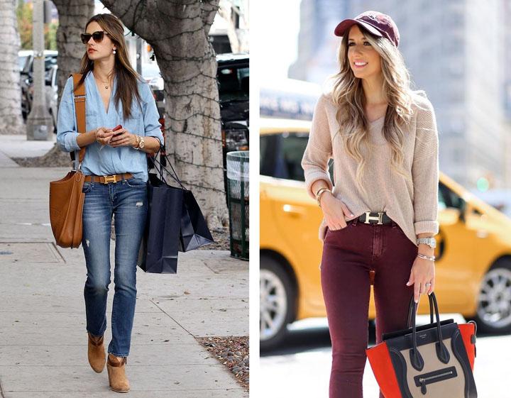 Một số cách đeo thắt lưng nữ khác