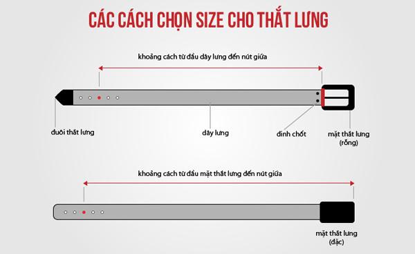 Cách chọn size cho thắt lưng