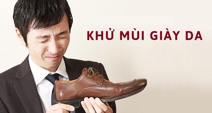 Cách khử mùi giày da