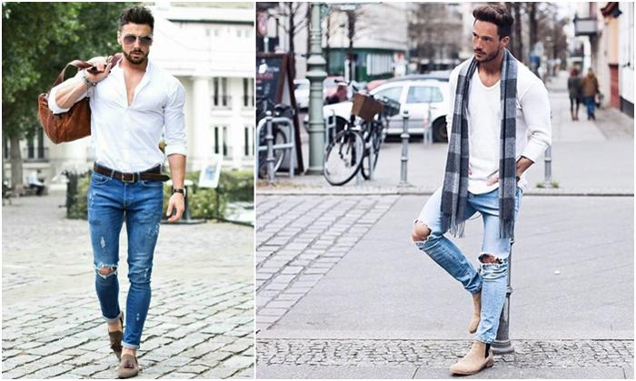 Cách phối giày với quần jean