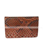 Hộp namecard da trăn Hoa Cà màu hồng đen - 9305