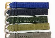 Dây da đồng hồ cá sấu hoa cà da bụng cost 18 mm - 2074