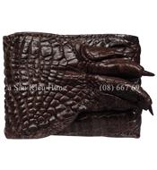 Bóp da cá sấu Kiều Hưng da bàn tay dạng ba gấp
