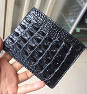 Bóp da cá sấu da đuôi màu đen bảo hành 3 năm giá rẻ tại Kiều Hưng