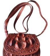 Bóp đầm cá sấu hoa cà da nguyên con - 0126