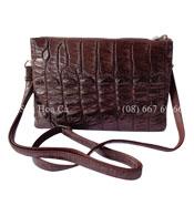 Bóp đầm cá sấu Hoa Cà da nguyên con không lỗi - 0165