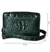Túi đeo chéo nam da cá sấu Hoa Cà nguyên con - 00901 Hàng độc nhất