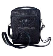 Túi đeo chéo nam da cá sấu Hoa Cà nguyên con - 0201