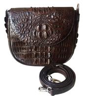 Túi đeo chéo nữ da cá sấu màu nâu hàng giá rẻ tại Cá Sấu Kiều Hưng