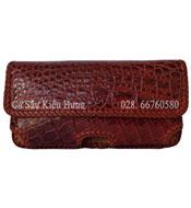 Bao điện thoại da cá sấu đan viền Iphone 7Plus