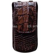 Bao mắt kính da cá sấu KHZ01 Màu nâu, dùng đeo thắt lưng BH 3 năm