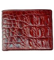 Bóp da cá sấu nam da gai nâu đỏ giá 580K hàng Cá Sấu Kiều Hưng