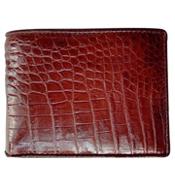 Bóp da cá sấu nam da bụng nâu đỏ giá 580K hàng Cá Sấu Kiều Hưng