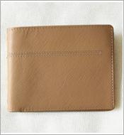 Bóp da bò nam phối vải jean, vàng sáng KH239 BH 12 tháng. Giá rẻ!