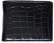 Bóp da cá sấu bụng - kh-lmb01, màu đen, BH 3 năm, đổi trả 30 ngày