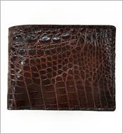 Bóp cá sấu da bụng 7 ngăn thẻ da nâu kh580  BH 1 năm. Hàng có sẵn
