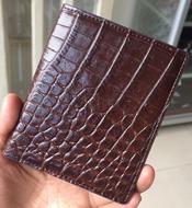Bóp đứng da cá sấu kiểu không khoá kéo giá rẻ BH 1 tại Kiều Hưng