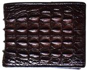 Bóp da cá sấu gai lưng nâu đất- lmb01. BH 3 năm đổi trả 30 ngày