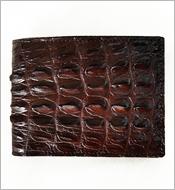 Bóp da cá sấu gai 7 ngăn thẻ da nâu LM 058  BH 1 năm. Hàng có sẵn