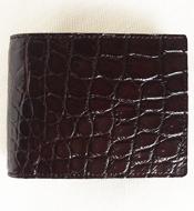 Bóp da cá sấu Kiều Hưng, màu nâu. KH058. BH 3 năm, hàng có sẵn.