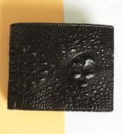 Bóp da cá sấu Kiều Hưng nguyên con màu đen. BH 3 năm, hàng có sẵn