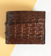 Bóp da cá sấu kiều hưng nâu đất, mã LM058. BH 3 năm. Hàng có sẵn
