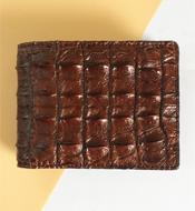 Bóp da cá sấu kiều hưng màu nâu, mã LM058. BH 3 năm. Hàng có sẵn