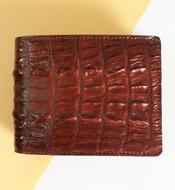 Bóp da cá sấu Kiều Hưng đuôi, nâu đỏ LM058. BH 3 năm. Hàng có sẵn