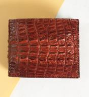 Bóp da cá sấu kiều hưng da đuôi, mã LM058. BH 3 năm. Hàng có sẵn