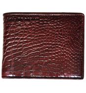 Bóp da cá sấu lắp lật, nâu đỏ - kh-lmb01. BH 3 năm đổi 30 ngày