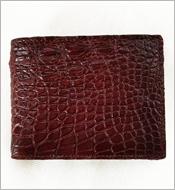 Bóp cá sấu da bụng 7 ngăn thẻ da nâu đỏ. BH 1 năm. Hàng có sẵn