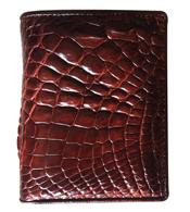 Bóp đứng da cá sấu da tay màu nâu đỏ giá rẻ BH 3 năm tại Kiều Hưng