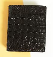 Bóp đứng da cá sấu Kiều Hưng TH080 màu đen. BH 3 năm, hàng có sẵn