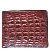 Bóp da cá sấu nam da đuôi nhỏ màu nâu đỏ giá 580K Cá Sấu Kiều Hưng