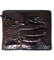 Bóp da cá sấu da bàn tay màu nâu giá rẻ nhất tại Cá Sấu Kiều Hưng