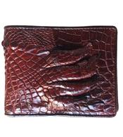 Bóp da cá sấu da bàn tay màu đỏ đô giá rẻ nhất tại Cá Sấu Kiều Hưng