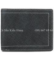 Bóp nam da bò in vải sọc da nhập Hàn Quốc cao cấp